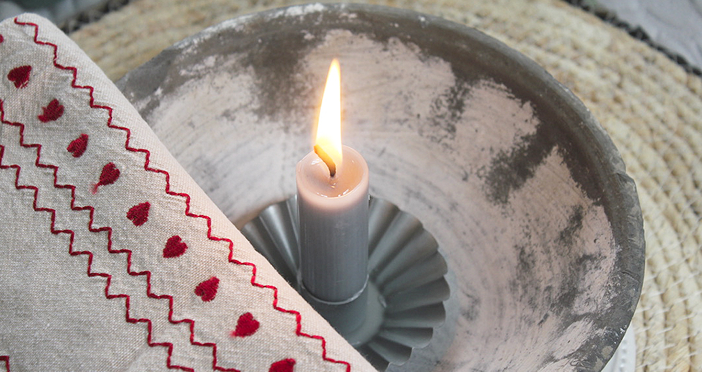 3. Grey Candle holder