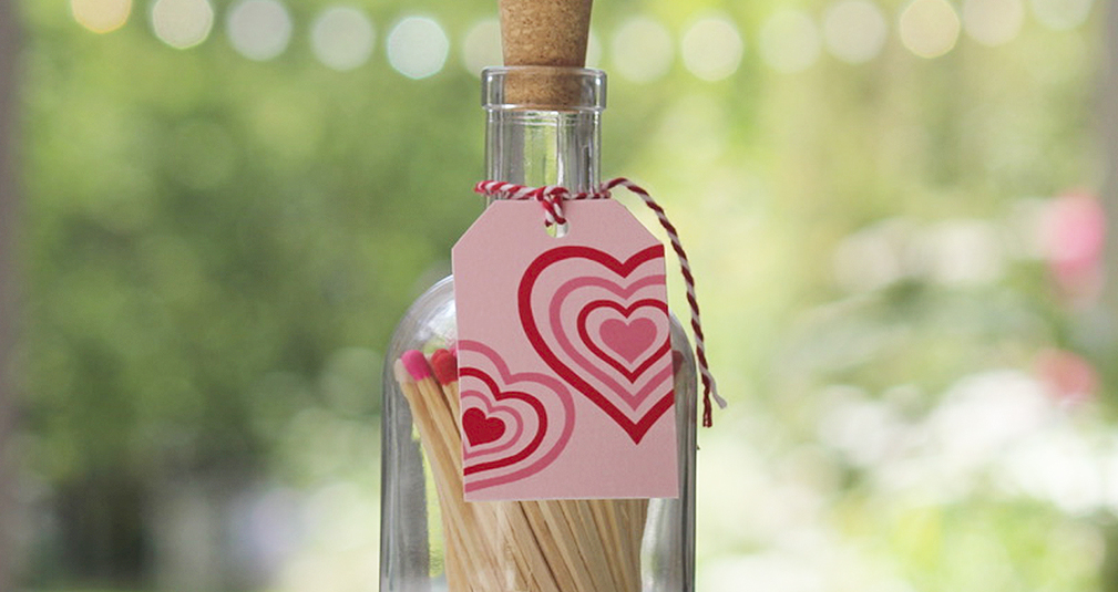 6. Heart match jar